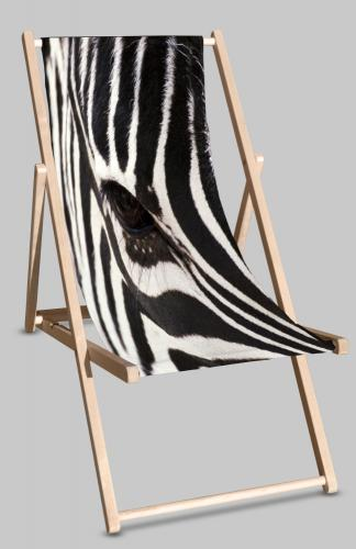 Zebra deckchair